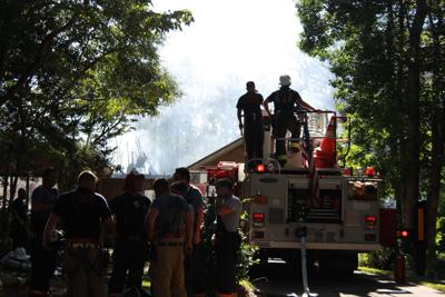 Crews fight structure fire off Loblolly Drive in Pine Knoll Shores