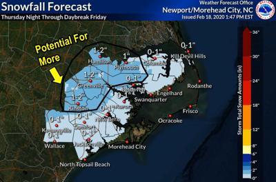 Snowfall possible