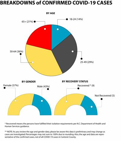 County stats pie charts