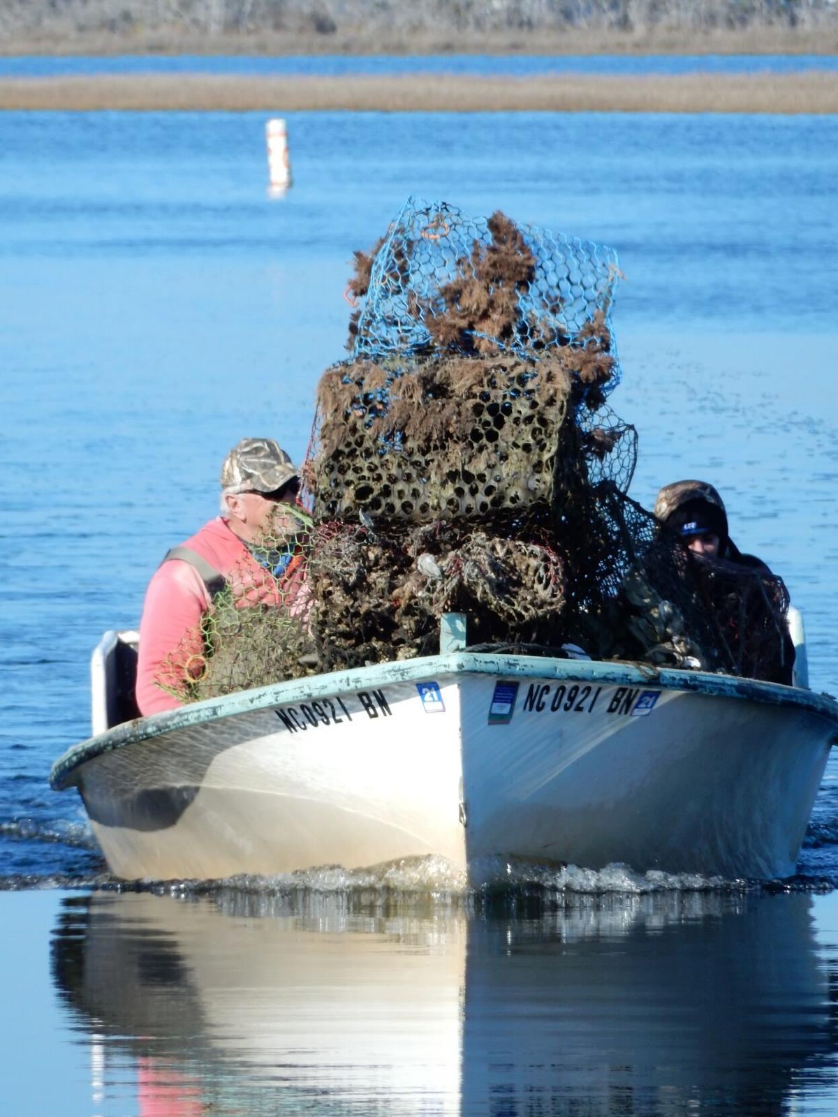 NCCF hires commercial fishermen to gather lost gear, clean waterways