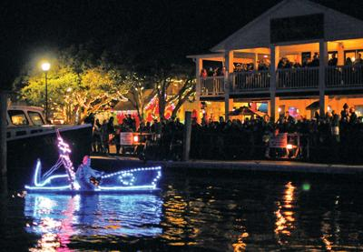 Parade on water