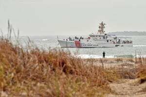 <p>The USCG Cutter <em>Richard Snyder</em> makes her way through Beaufort Inlet on Tuesday before docking at her new home at Station Fort Macon. (Dylan Ray photo)</p><p></p>