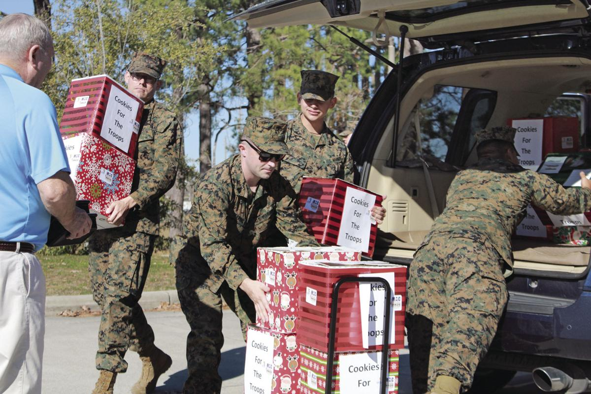 Sweets delivered  to service members