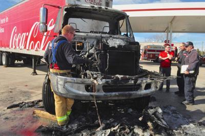 Coca-Cola truck fire