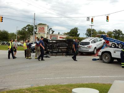 Traffic collision Thursday in Beaufort flips vehicle, sends one to Carteret Health Care