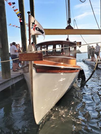 Boatbuilder celebrates work on one striking vessel