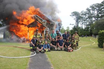 Live Oak Grove Christian Church rises from ashes during controlled burn of old building