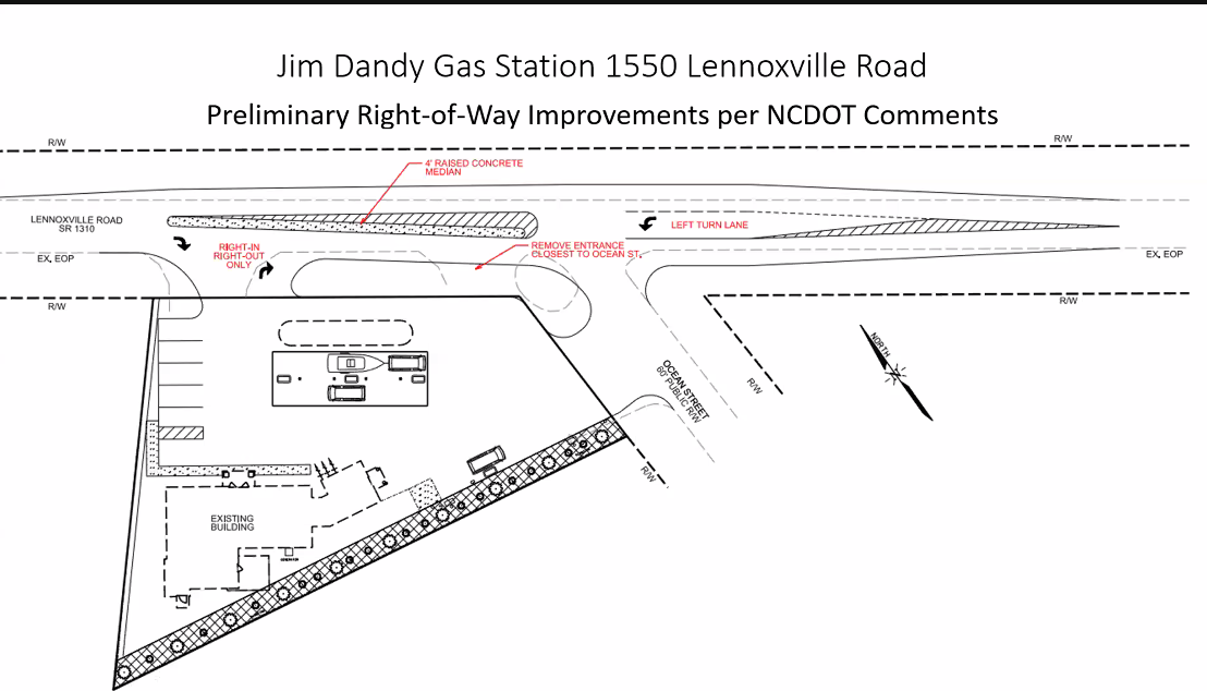 Beaufort commission to review gas station permit application again Monday, determination possible