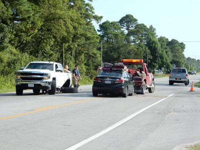 Drivers transported to hospital after Hibbs Road collision Monday