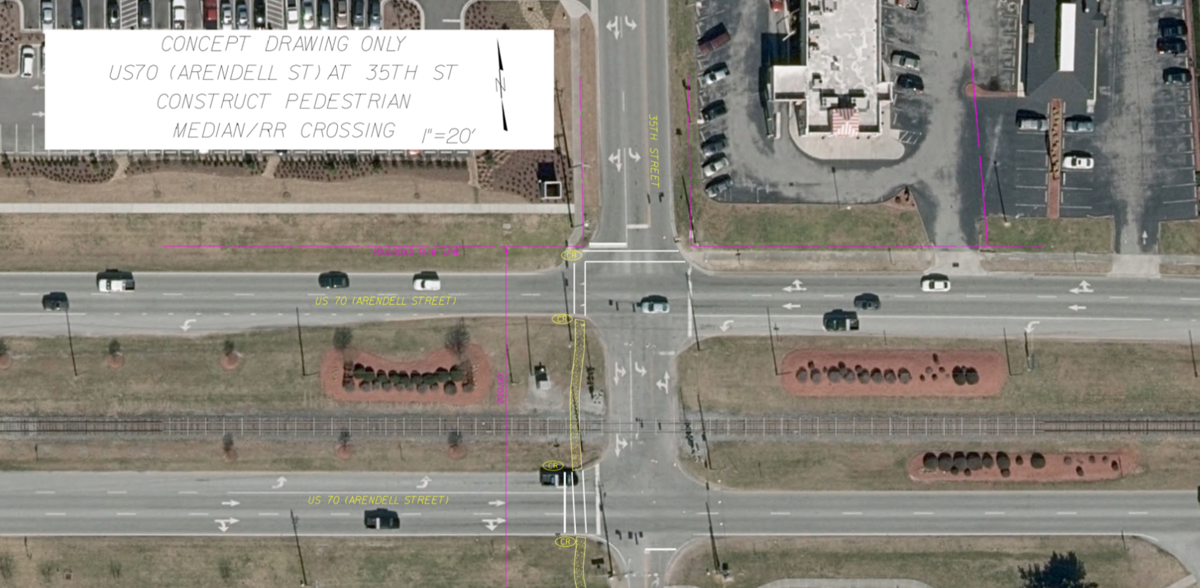 Morehead City, hospital and college put support behind crosswalk at 35th and Arendell streets