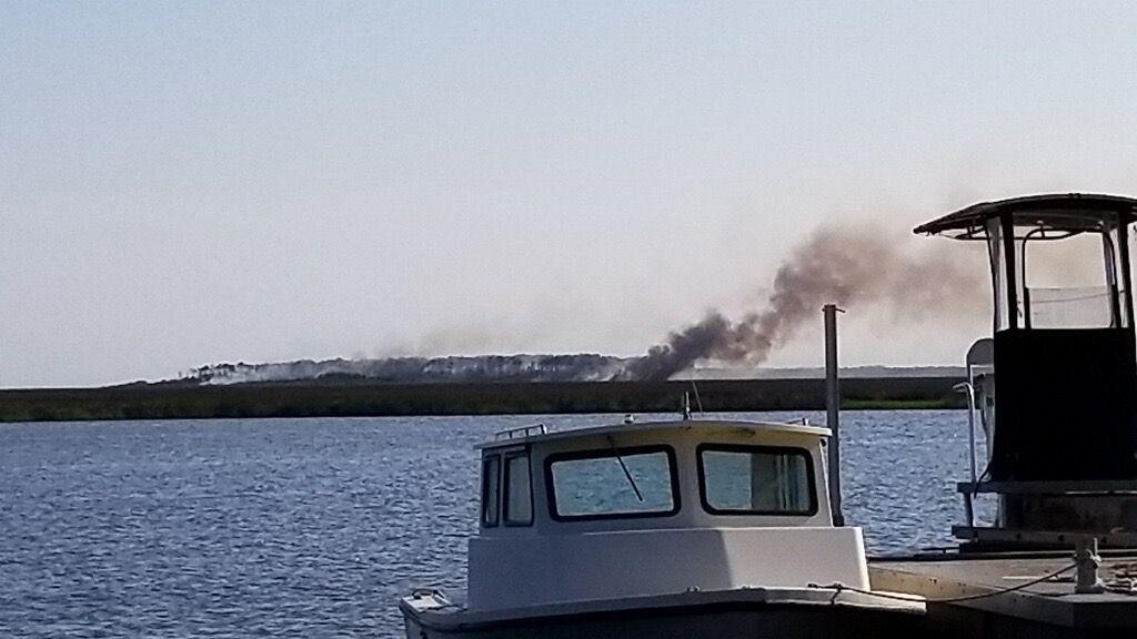 Cedar Island fire burns an estimated 15 acres