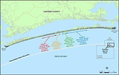 Carteret County Nc Map.Engineers Nix Proposal For Bogue Banks Nourishment News