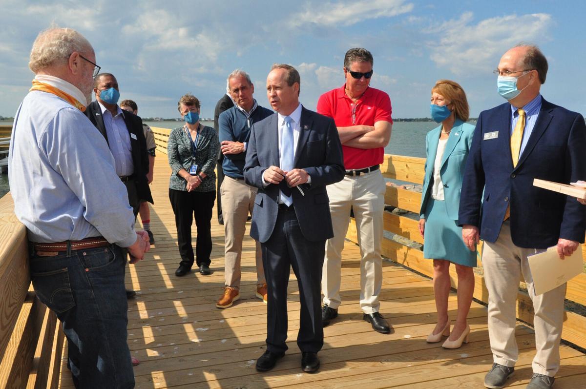 US Rep. Murphy tours Carteret Community College programs, living shoreline