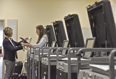 Ballots checked in Cape Carteret, Morehead City, Indian Beach