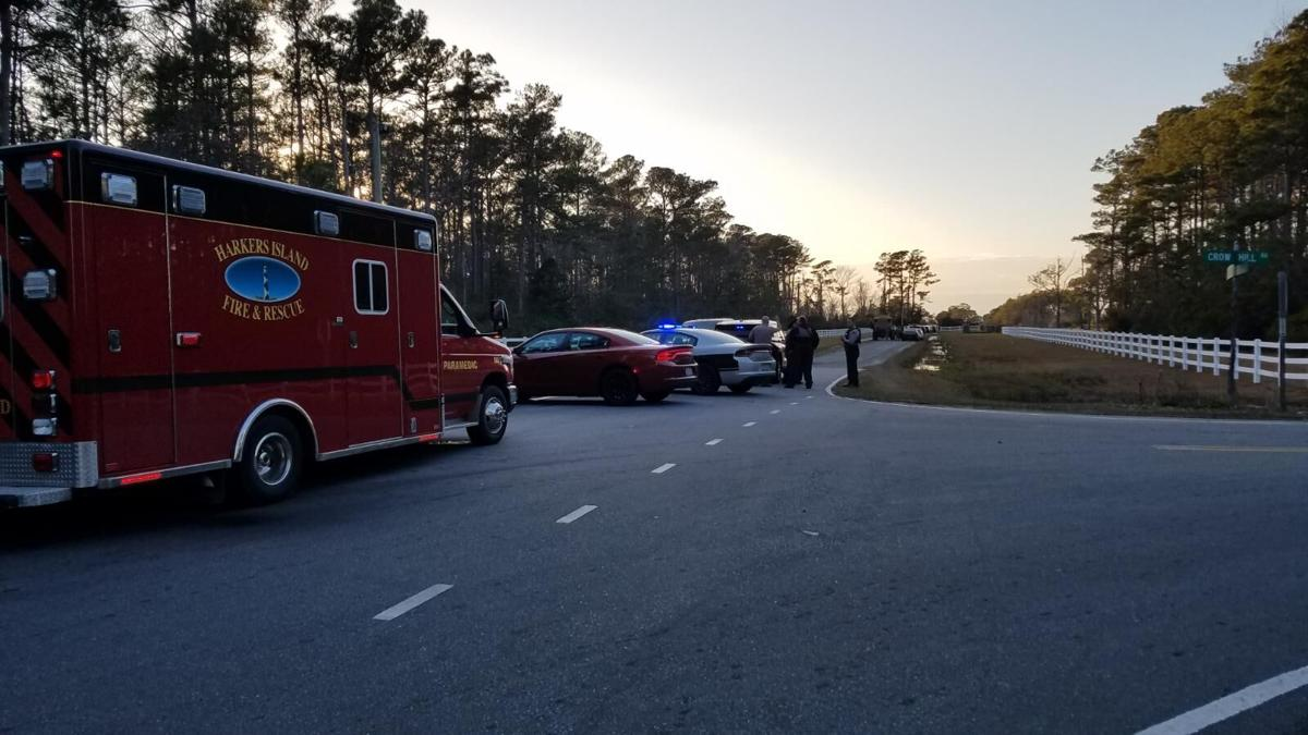 Law enforcement respond to emergency call Down East