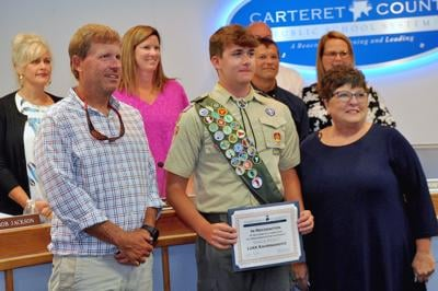 School board honors Eagle Scout for  preschool playground improvements