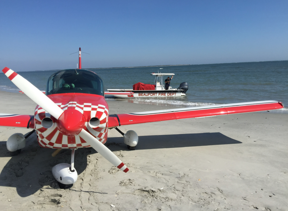 No injuries reported after pilot makes emergency landing on Bird Shoal