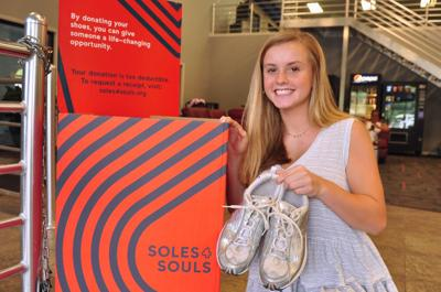 Morehead City teen collects shoes to help others