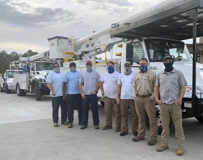 CCEC sends crews to help sister co-op restore power after Zeta