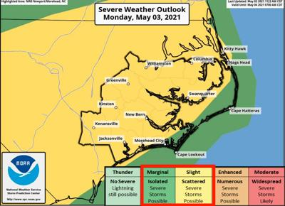 NWS issues thunderstorm briefing for Monday evening