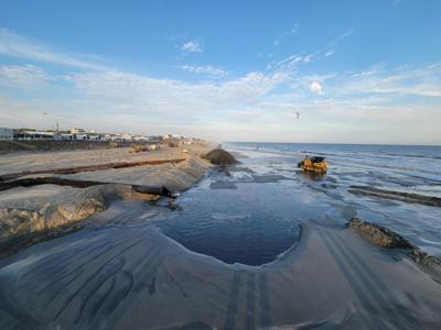 Emerald Isle nourishment project continues over Easter weekend; 1 sea turtle killed