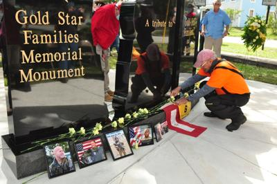 Emotions run high as community dedicates Gold Star Family Monument