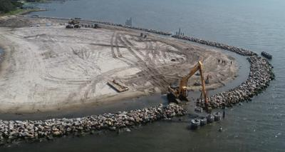 Contractor finishes Carteret County portion of Atlantic Harbor project