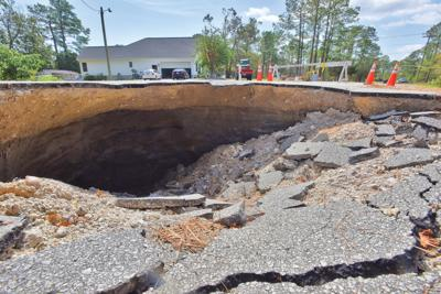 Sink hole off Star Hill Drive