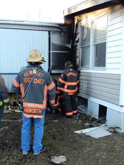 Newport firefighters put out trailer blaze