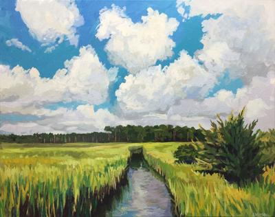 """""""Marsh and Sky"""" by Stephen Moore"""