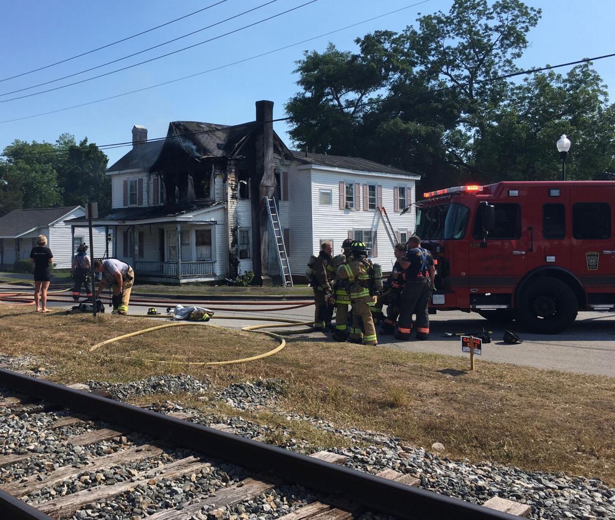 Multiple agencies respond to house fire on Howard Boulevard Sunday