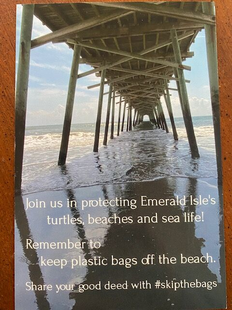 Youth starts campaign to keep plastics off Emerald Isle beaches