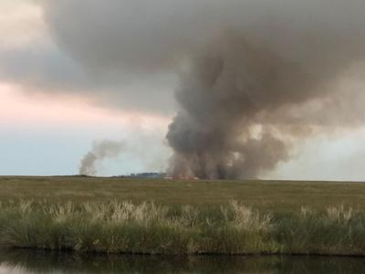 Cedar Island fire burns itself out, ravishes 57 acres