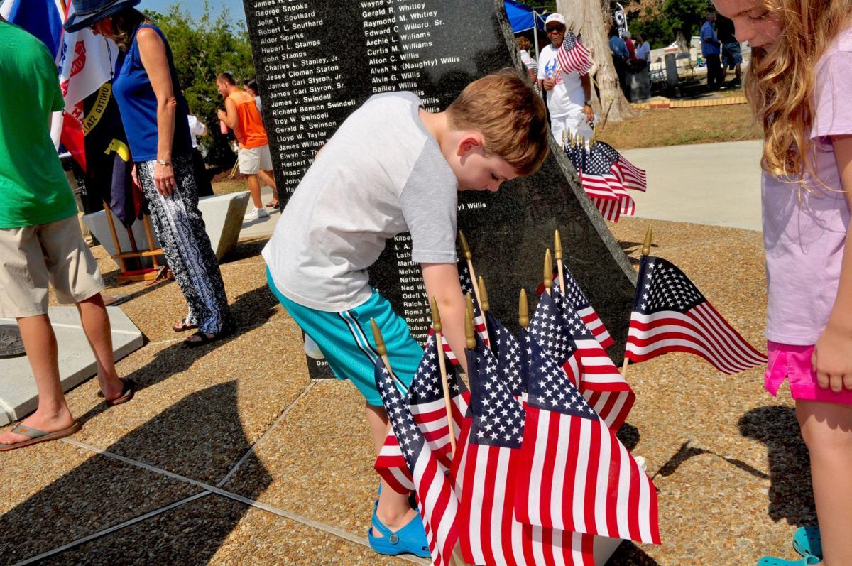 Placing a flag
