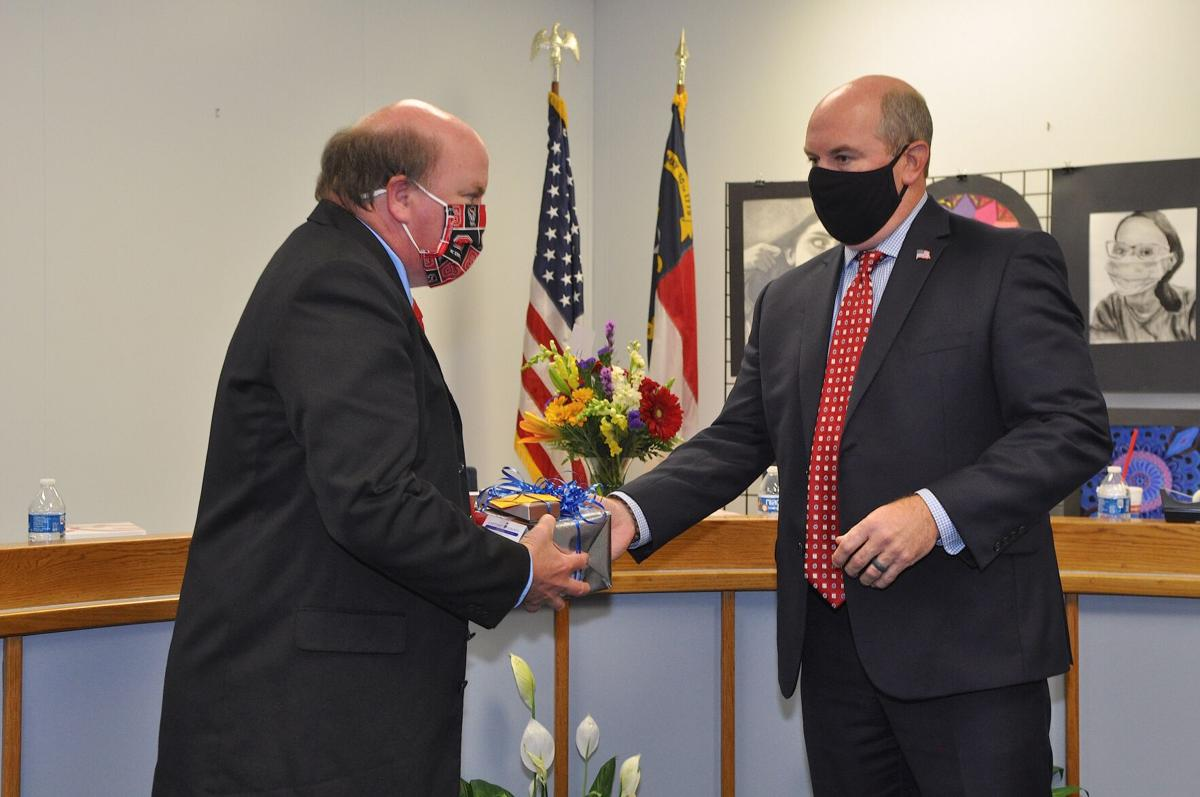 School board honors outgoing members