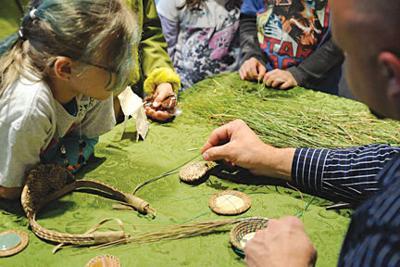 Children participate in crafts