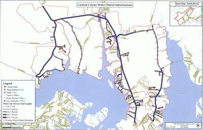 Carteret County water district infrastructure