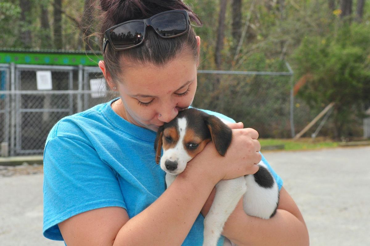 2worker holds adopted puppy2cb.jpg