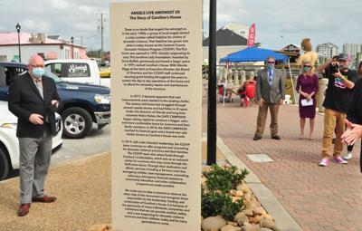 County Domestic Violence Program celebrates new safe house, monument