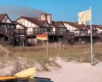 Several units at Ocean Reef condominiums damaged in Sunday fire in Emerald Isle