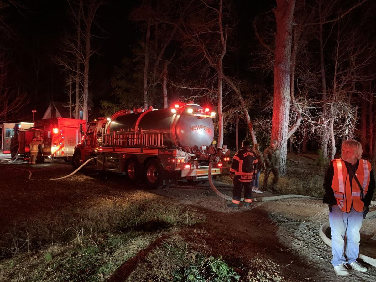 Crews fight fire