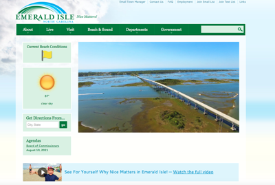 Emerald Isle board agrees to spend federal relief funds on new website, bike path updates