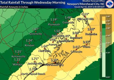 NWS total rainfall forecast April 2