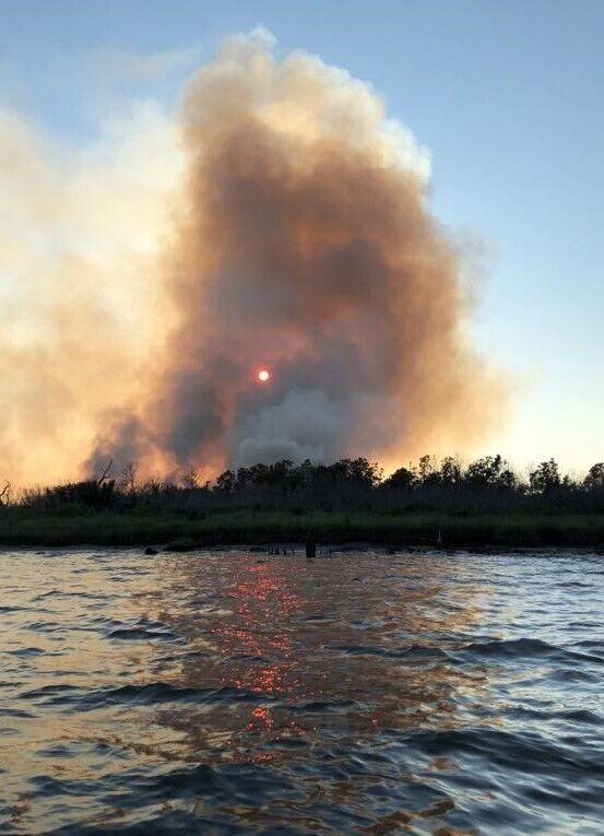 Cedar Island fire burns at least 50 acres as of Wednesday night