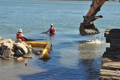 Work begins on community college shoreline restoration