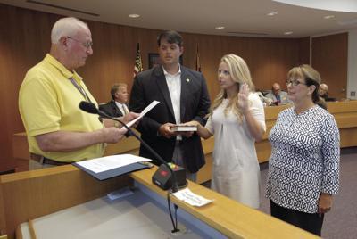New hire sworn in