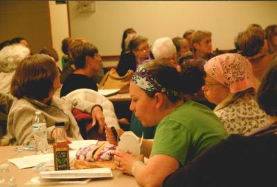Quilters Give to Food Bank