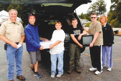 Boy Scouts Host Recycling Drive