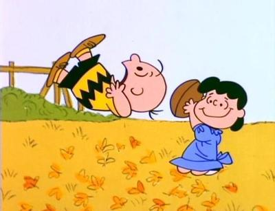 Lucy and Charlie Brown