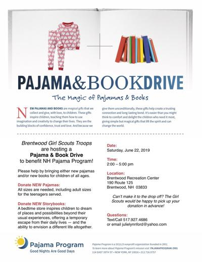 Pajama and Storybook Donation Drive
